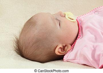 赤ん坊, 肖像画, わずかしか, 睡眠