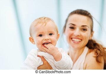 赤ん坊, 肖像画, 遊び, 母