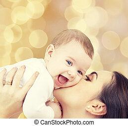 赤ん坊, 遊び, 笑い, 母