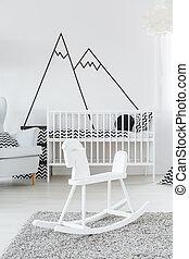 赤ん坊, 部屋, cockhorse