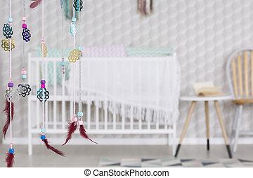 赤ん坊, 部屋, dreamcatcher