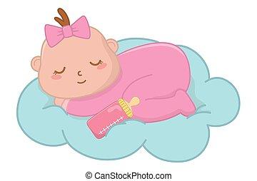 赤ん坊, 雲, 睡眠