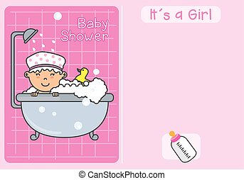 赤ん坊, girl., shower., it´s