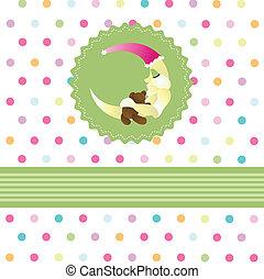 赤ん坊, seamless, カード, パターン