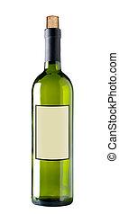 赤ワインのびん, 隔離された, 切り抜き, path.