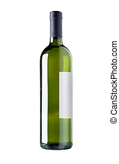 赤ワインのびん, isolated.