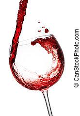 赤ワイン, ある, 注がれた, 中に, a, ワイン ガラス