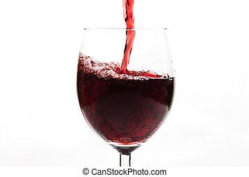 赤ワイン, たたきつける, wineglass