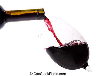 赤ワイン, はねかけること
