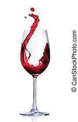 赤ワイン, 抽象的, はねかけること