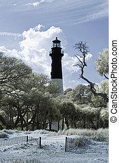 赤外線, 写真, の, 灯台