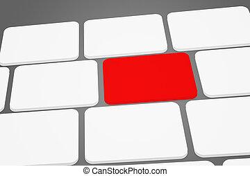 赤, キーボード, ボタン