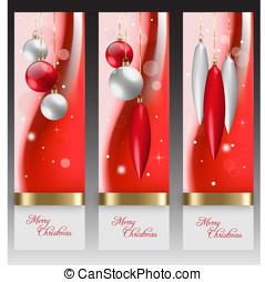 赤, クリスマスの 休日, 背景