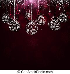 赤, クリスマス, 祝福, 背景