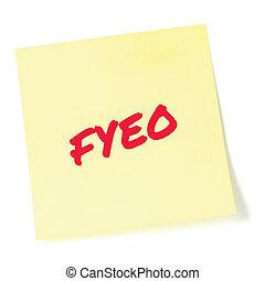赤, クローズアップ, 情報, to-do, initialism, 敏感, あなたの, 大きい, 上, 分類された, newsletter, 機密性, メモ, セキュリティー, 詳しい, メモ, オペレーション, 隔離された, 付せん, 黄色, 頭字語, 概念, インフォメーション, 書かれた, 通知, ポストそれ, リスト, テキスト, 文書, クローズアップ, メッセージ, 秘密, ブレティン, 省略, (opsec), 目, fyeo, プライバシー, ∥たった∥, マーカー, 比喩, マクロ, 機密, 秘密, 手紙, ステッカー