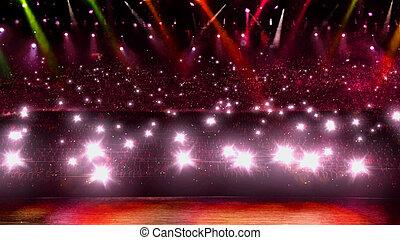 赤, コンサート, ライト