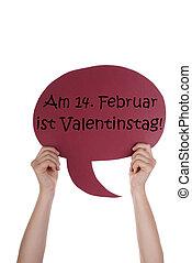 赤, スピーチ, balloon, ∥で∥, ドイツ語, valentinstag, 手段, バレンタインデー