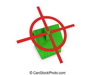 赤, ターゲット, 緑, 家