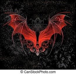 赤, ドラゴン, 翼
