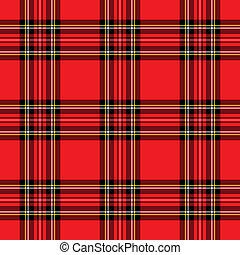 赤, パターン, plaid