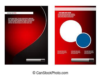 赤, リーフレット, デザイン要素