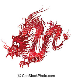 赤, 中国のドラゴン