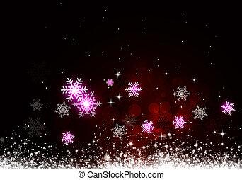 赤, 休日, クリスマス, 背景