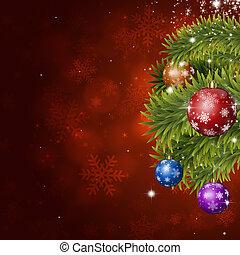 赤, 休日, クリスマス, 装飾
