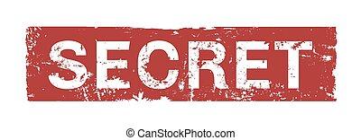 赤, 切手, 秘密, 隔離された, 広場, グランジ, 型