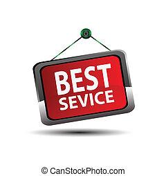 赤, 印, 最も良く, サービス, ラベル