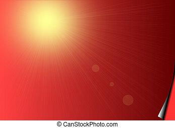 赤, 日光