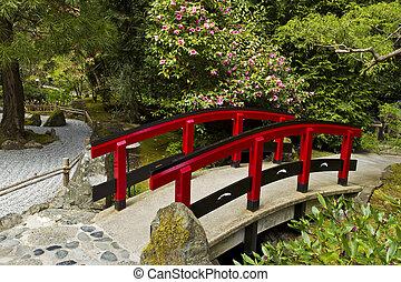赤, 日本の庭, 橋