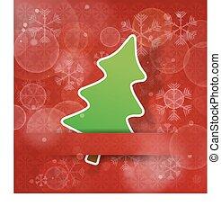 赤, 木, クリスマス, 背景, 雪が多い