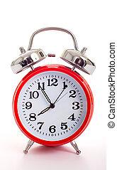 赤, 目覚し 時計
