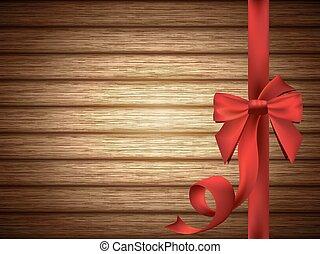 赤, 絹のようである, 弓, ∥で∥, リボン, 上に, 木