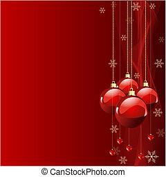 赤, 色, クリスマス, 背景