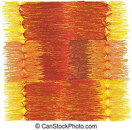 赤, 色, 装飾用である, グランジ, フリンジ, 黄色, オレンジ, しまのある, マット