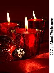 赤, 蝋燭, ∥で∥, リボン