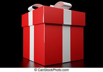 赤, 贈り物の箱