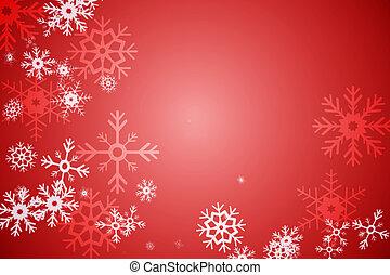 赤, 雪の薄片, パターンデザイン