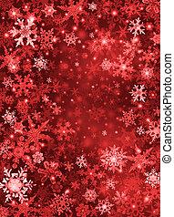 赤, 雪, 背景