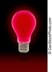 赤, 電球, ライト