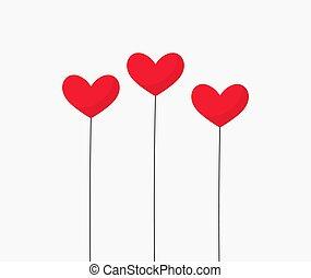 赤, 3, hearts.