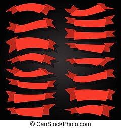 赤, ribbons-set