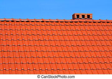 赤, roofing-tiles
