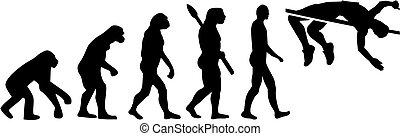 走り高跳び, 進化