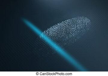 走査器, 指紋