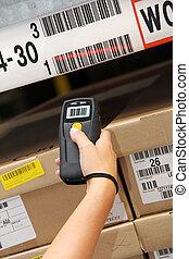 走査器, barcode