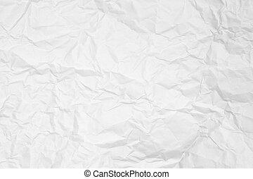 起皺紋, 紙