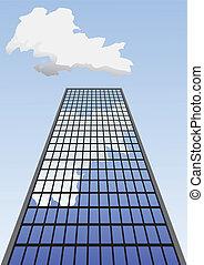 超高層ビル, 上がる, sky.